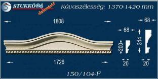 Kérgesített timpanon, polisztirol dekoráció, 150/104 F 1370-1420