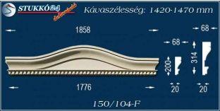 Kérgesített timpanon, polisztirol dekoráció, 150/104 F 1420-1470