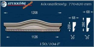 Kérgesített timpanon, polisztirol dekoráció, 150/104 F 770-820