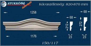 Kérgesített timpanon, polisztirol dekoráció, 150/104 F 820-870