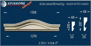 Kérgesített timpanon, polisztirol dekoráció, 150/104 F 920-970