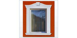 95. Kültéri stukkó dekorációs ötletek: ívre hajlítható stukkó ablakkeretezéshez