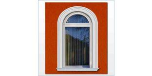 107. Kültéri stukkó dekorációs ötletek: ívre hajlítható stukkóléc, mint ajtókeret, ablakkeret