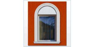 101. Kültéri stukkó dekorációs ötletek: ívre hajlítható stukkó ablak-, ajtódíszítéshez