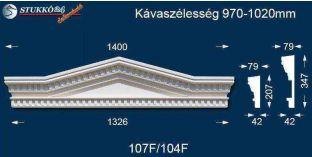 Timpanon, ablak stukkó, díszítőelem, 107 F/104 F 970-1020