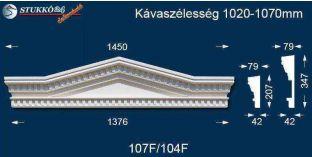 Timpanon, ablak stukkó, díszítőelem, 107 F/104 F 1020-1070