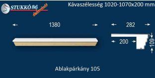 Kérgesített párkány, ablakstukkó, 105 1020-1070-200