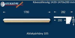 Kérgesített párkány, ablakstukkó, 105 1420-1470-200