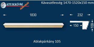 Kérgesített párkány, ablakstukkó, 105 1470-1520-150