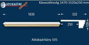 Kérgesített párkány, ablakstukkó, 105 1470-1520-250