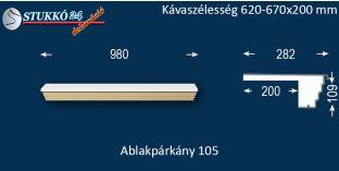 Kérgesített párkány, ablakstukkó, 105 620-670-200