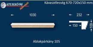 Kérgesített párkány, ablakstukkó, 105 670-720-150