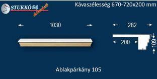 Kérgesített párkány, ablakstukkó, 105 670-720-200
