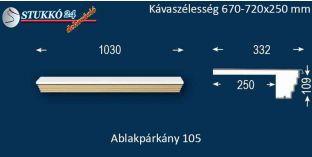 Kérgesített párkány, ablakstukkó, 105 670-720-250