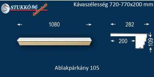 Kérgesített párkány, ablakstukkó, 105 720-770-200
