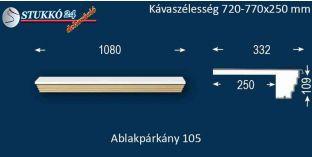 Kérgesített párkány, ablakstukkó, 105 720-770-250