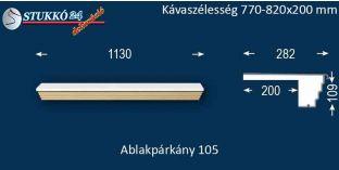 Kérgesített párkány, ablakstukkó, 105 770-820-200