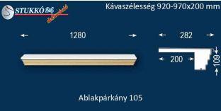 Kérgesített párkány, ablakstukkó, 105 920-970-200
