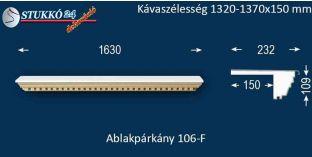 Ablakpárkány, polisztirol stukkó, 106F 1320-1370-150