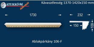 Ablakpárkány, polisztirol stukkó, 106F 1370-1420-150