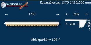 Ablakpárkány, polisztirol stukkó, 106F 1370-1420-200