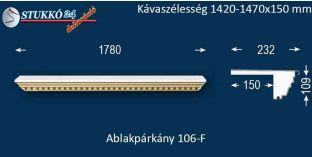 Ablakpárkány, polisztirol stukkó, 106F 1420-1470-150