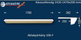 Ablakpárkány, polisztirol stukkó, 106F 1420-1470-200