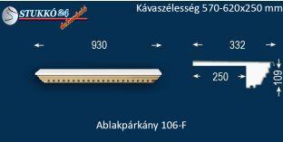 Ablakpárkány, polisztirol stukkó, 106F 570-620-250