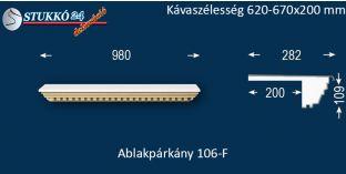 Ablakpárkány, polisztirol stukkó, 106F 620-670-200