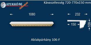 Ablakpárkány, polisztirol stukkó, 106F 720-770-150