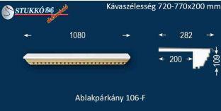 Ablakpárkány, polisztirol stukkó, 106F 720-770-200