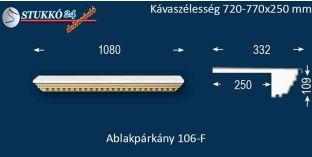 Ablakpárkány, polisztirol stukkó, 106F 720-770-250
