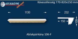 Ablakpárkány, polisztirol stukkó, 106F 770-820-150