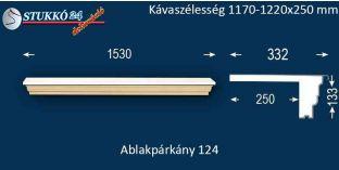 Komplett alumínium ablakpárkány 124 1170-1220-250