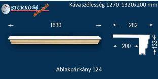 Komplett alumínium ablakpárkány 124 1270-1320-200