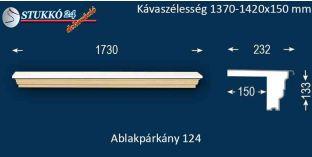 Komplett alumínium ablakpárkány 124 1370-1420-150