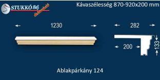 Komplett alumínium ablakpárkány 124 870-920-250
