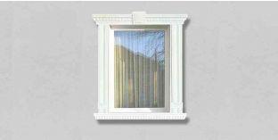69. Kültéri stukkó dekorációs ötletek: kültéri díszlécek ablakkeretként