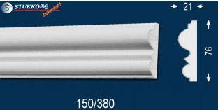 Balatonfűzfő 150 kérgesített homlokzati díszléc, polisztirol stukkó