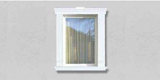 55. Kültéri stukkó dekorációs ötletek: kültéri kérgesített stukkó ajtókeretezéshez, ablakkeretezéshez