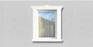 36. Kültéri stukkó dekorációs ötletek: kültéri stukkó ajtó- és ablakkeretezéshez