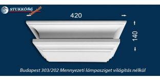 Design lámpa, mennyezeti lámpasziget Budapest 303/202 világítás nélkül