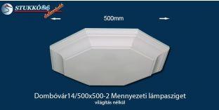 Design lámpa, mennyezeti lámpasziget Dombóvár 14/500x500-2 világítás nélkül
