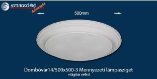 Design lámpa, mennyezeti lámpasziget Dombóvár 14/500x500-3 íves, világítás nélkül
