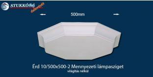 Design lámpa, mennyezeti lámpasziget Érd 10/500x500-2 világítás nélkül