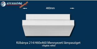 Design lámpa, mennyezeti lámpasziget Kőbánya 214/460x460 világítás nélkül