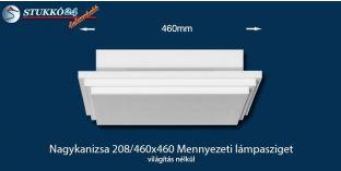 Design lámpa, mennyezeti lámpasziget Nagykanizsa 208/460x460 világítás nélkül