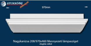 Design lámpa, mennyezeti lámpasziget Nagykanizsa 208/970x460 világítás nélkül