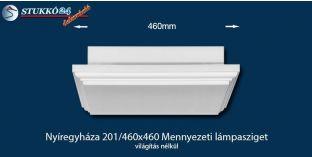 Design lámpa, mennyezeti lámpasziget Nyíregyháza 201/460x460 világítás nélkül