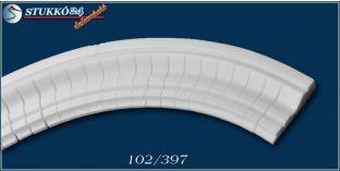 Miskolc 102 homlokzat dekoráció, kültéri díszléc, hajlítható díszléc
